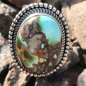 Jewelry - Stunning Sterling Silver Mountain Turquoise Ring